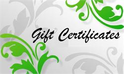 GIFT CERTIFICATES: